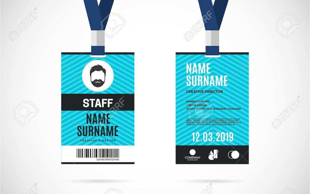 31 Blank Lanyard Name Card Template With Stunning Design for Lanyard Name Card Template