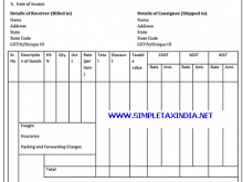 Tax Invoice Format For Gst