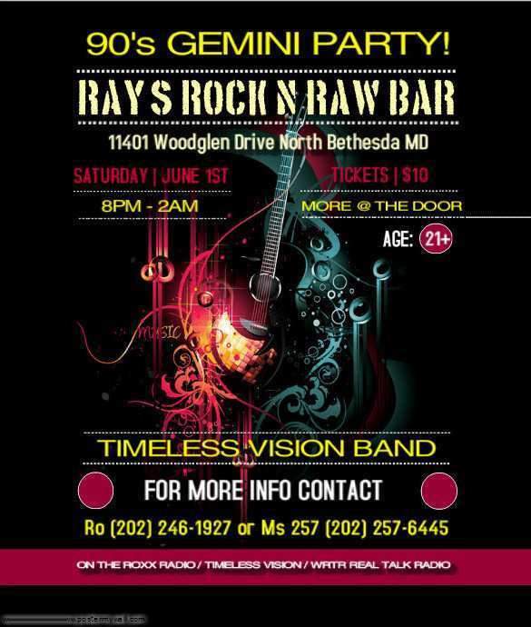 31 Create Band Flyers Templates Free With Stunning Design by Band Flyers Templates Free
