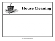 Housekeeping Flyer Templates