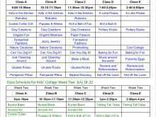31 Customize Class Schedule Template For Excel Maker for Class Schedule Template For Excel