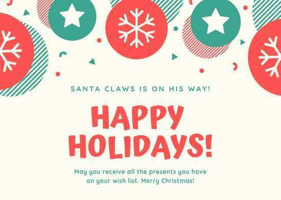 31 Customize Our Free Christmas Card Layout Online in Word by Christmas Card Layout Online