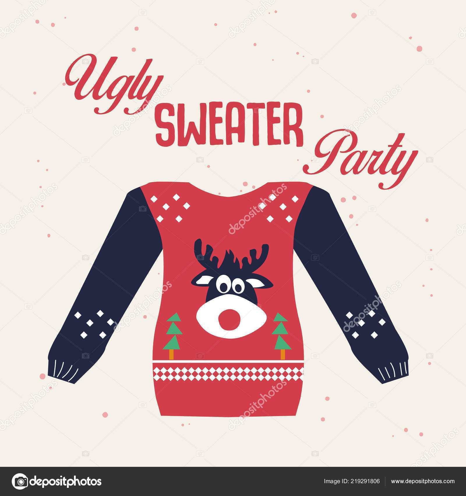 31 Customize Our Free Christmas Sweater Card Template PSD File for Christmas Sweater Card Template