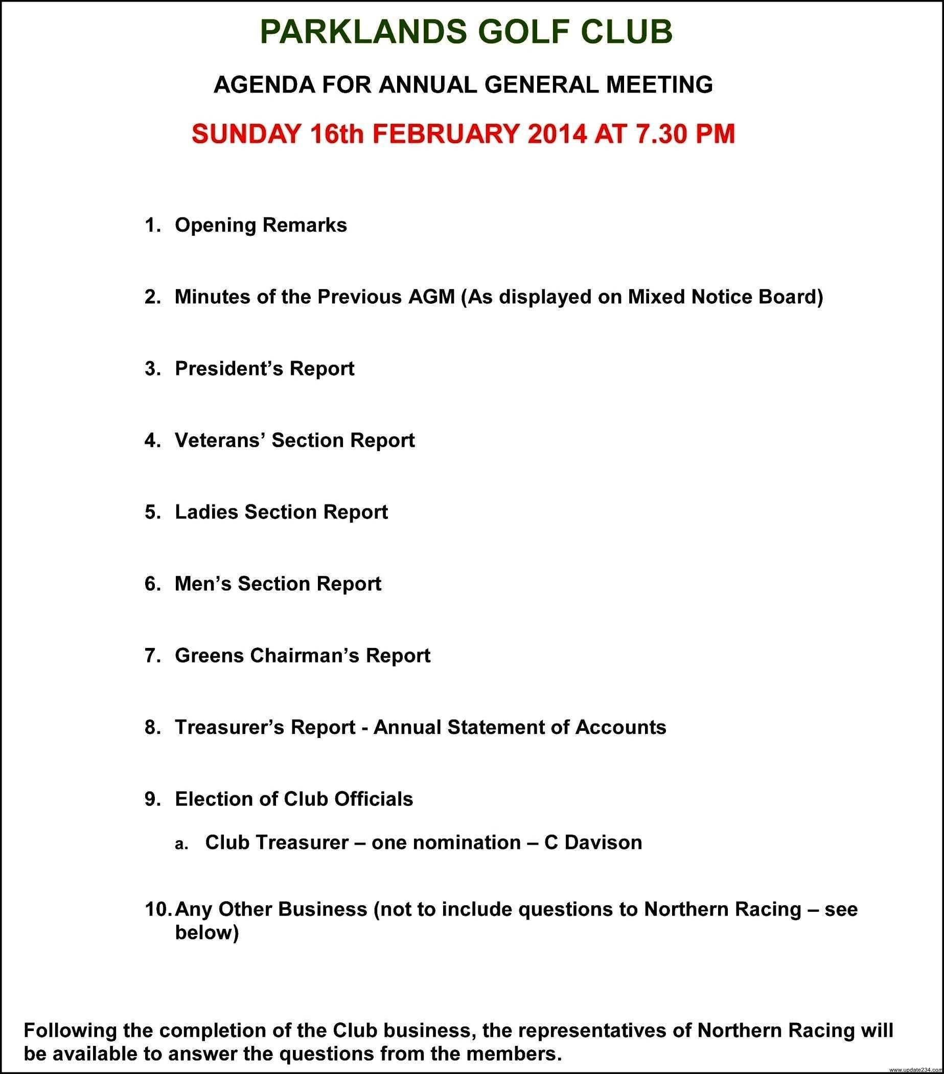 31 Format Agm Meeting Agenda Template Maker by Agm Meeting Agenda Template