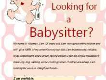 31 How To Create Babysitting Flyers Templates in Word with Babysitting Flyers Templates