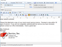 Sending An Invoice Email Template