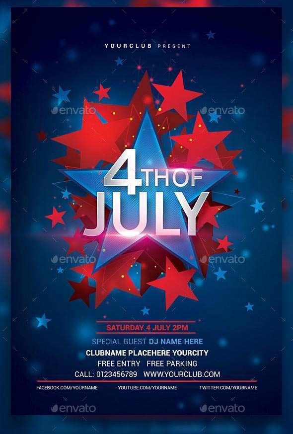 31 Printable 4Th Of July Party Flyer Templates Templates with 4Th Of July Party Flyer Templates