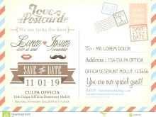 Large Postcard Template Word