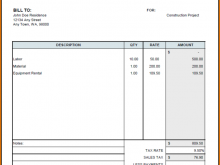 31 The Best Construction Invoice Template Doc Formating with Construction Invoice Template Doc