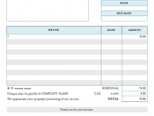 32 Blank Hourly Invoice Template Word in Photoshop by Hourly Invoice Template Word