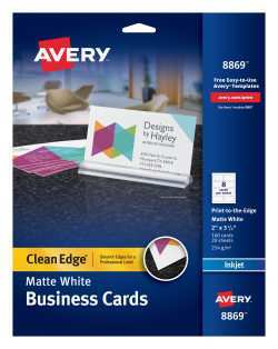 32 Create Avery Business Card Template 8869 in Word by Avery Business Card Template 8869