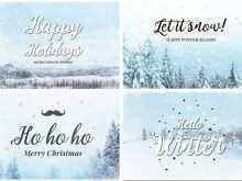 Vintage Christmas Photo Card Templates
