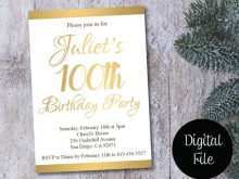 32 Creative 100Th Birthday Card Template in Photoshop by 100Th Birthday Card Template