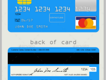 32 Creative A Credit Card Template in Photoshop with A Credit Card Template