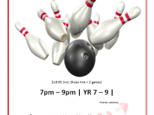 32 Customize Bowling Flyer Template Free Templates by Bowling Flyer Template Free