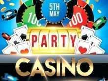 Casino Night Flyer Blank Template