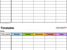 32 Customize Class Schedule Template Excel for Ms Word for Class Schedule Template Excel