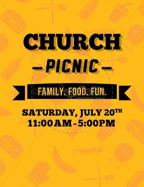 32 Customize Our Free Church Picnic Flyer Templates PSD File for Church Picnic Flyer Templates