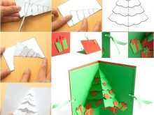 Template For Christmas Tree Pop Up Card