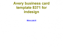 Avery Business Card Template 8371. Pdf