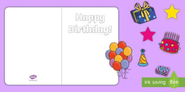 32 Format Birthday Card Template Twinkl Templates for Birthday Card Template Twinkl