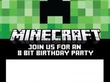 32 Format Minecraft Happy Birthday Card Template Printable Layouts with Minecraft Happy Birthday Card Template Printable