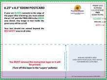 Postcard Template 5.5 X 8.5