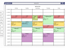 Simple Class Schedule Template