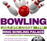 32 Report Bowling Flyer Template Free Now with Bowling Flyer Template Free