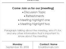 32 The Best Meeting Flyer Template Formating for Meeting Flyer Template