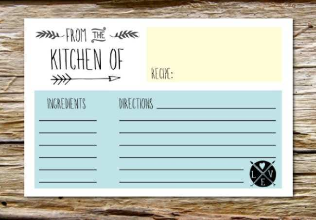 32 Visiting A Recipe Card Template for Ms Word for A Recipe Card Template