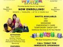 32 Visiting Daycare Flyer Templates in Word for Daycare Flyer Templates