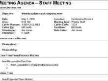 Meeting Agenda Memo Format