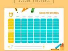 33 Blank Back To School Schedule Template in Photoshop by Back To School Schedule Template
