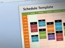 33 Create Class Schedule Template Powerpoint in Photoshop with Class Schedule Template Powerpoint