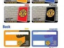 Printable Membership Card Template