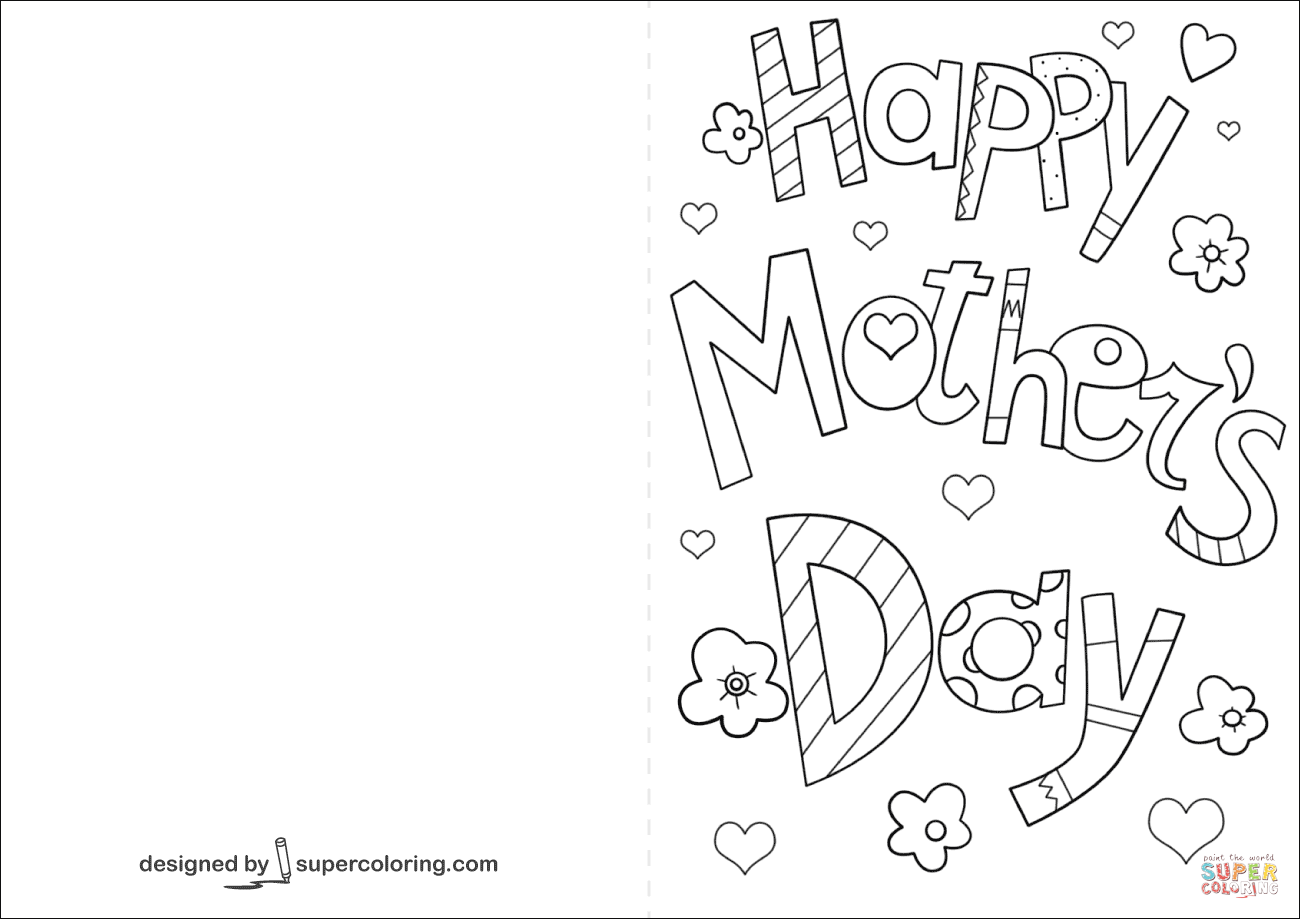 33 Creating Mothers Day Cards Colouring Templates in Photoshop with Mothers Day Cards Colouring Templates