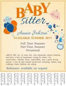 33 Creative Babysitter Flyer Template for Ms Word with Babysitter Flyer Template
