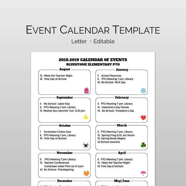 33 Creative Calendar Flyer Template for Ms Word by Calendar Flyer Template