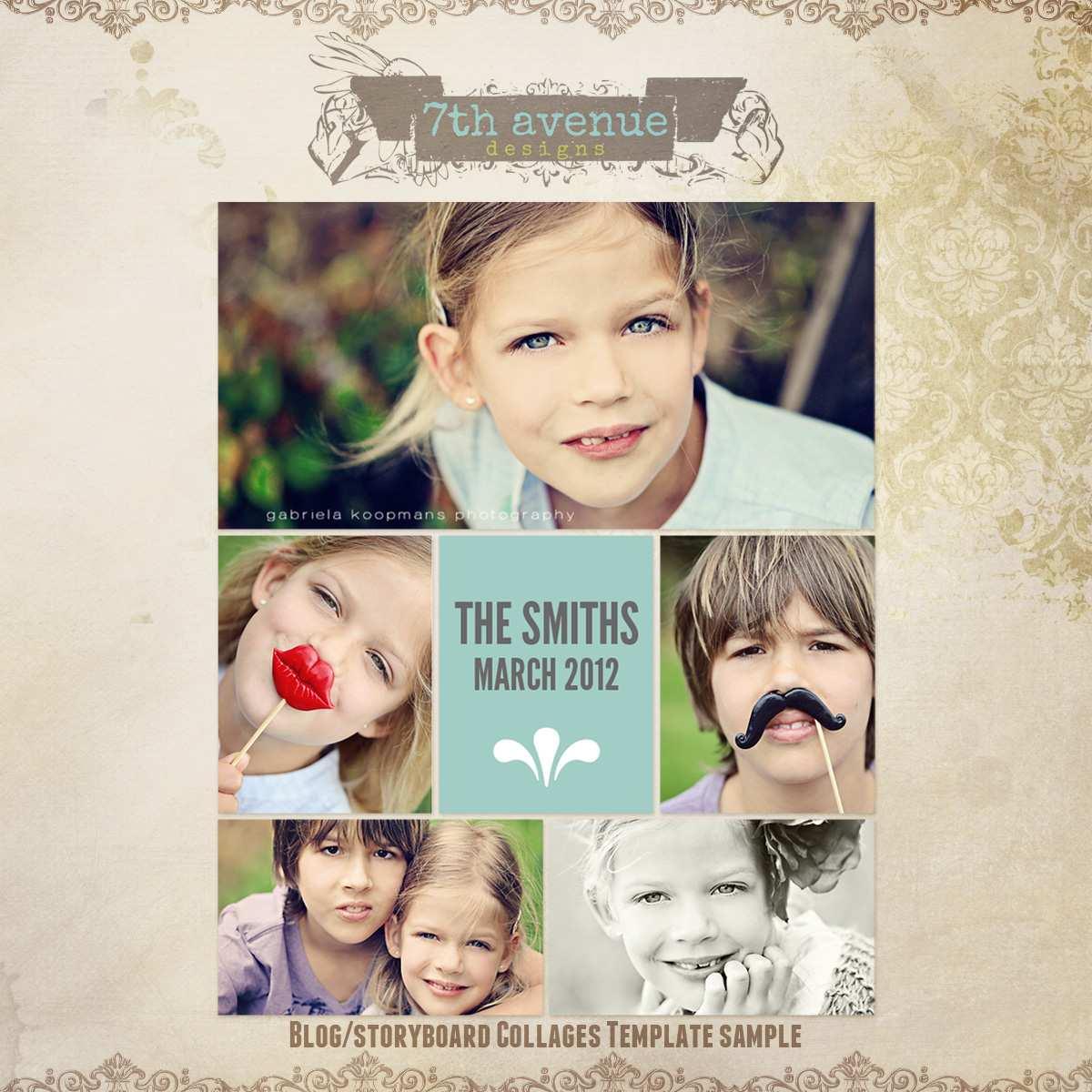 33 Creative Christmas Card Collage Templates Formating by Christmas Card Collage Templates