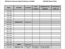 Event Agenda Template Word