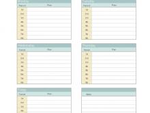 Class Schedule Template Free