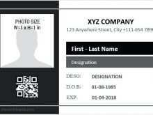 Employee Id Card Template Size