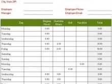 33 Customize Our Free Biweekly Time Card Template Excel Download for Biweekly Time Card Template Excel