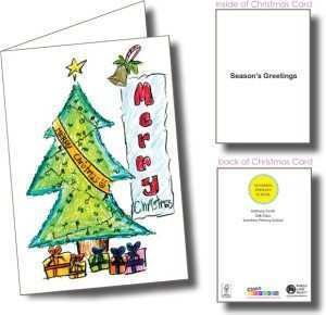 Christmas Card Template Class Fundraising Cards Design Templates