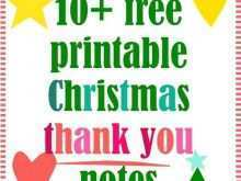 Free Printable Christmas Thank You Card Templates