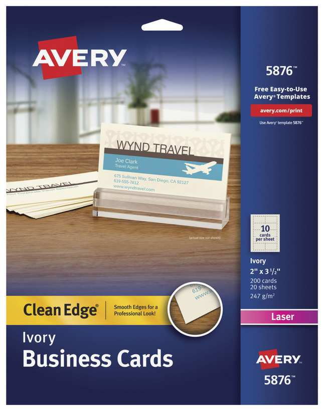 33 Format Avery Business Card Template Laser Printer Templates with Avery Business Card Template Laser Printer