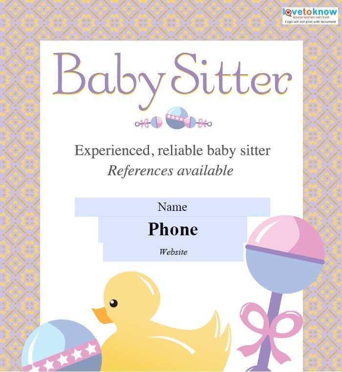 33 Free Printable Babysitting Flyer Free Template Photo with Babysitting Flyer Free Template