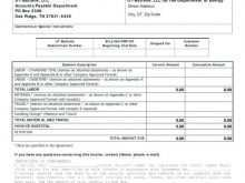 33 Free Printable Blank Labor Invoice Template Now for Blank Labor Invoice Template