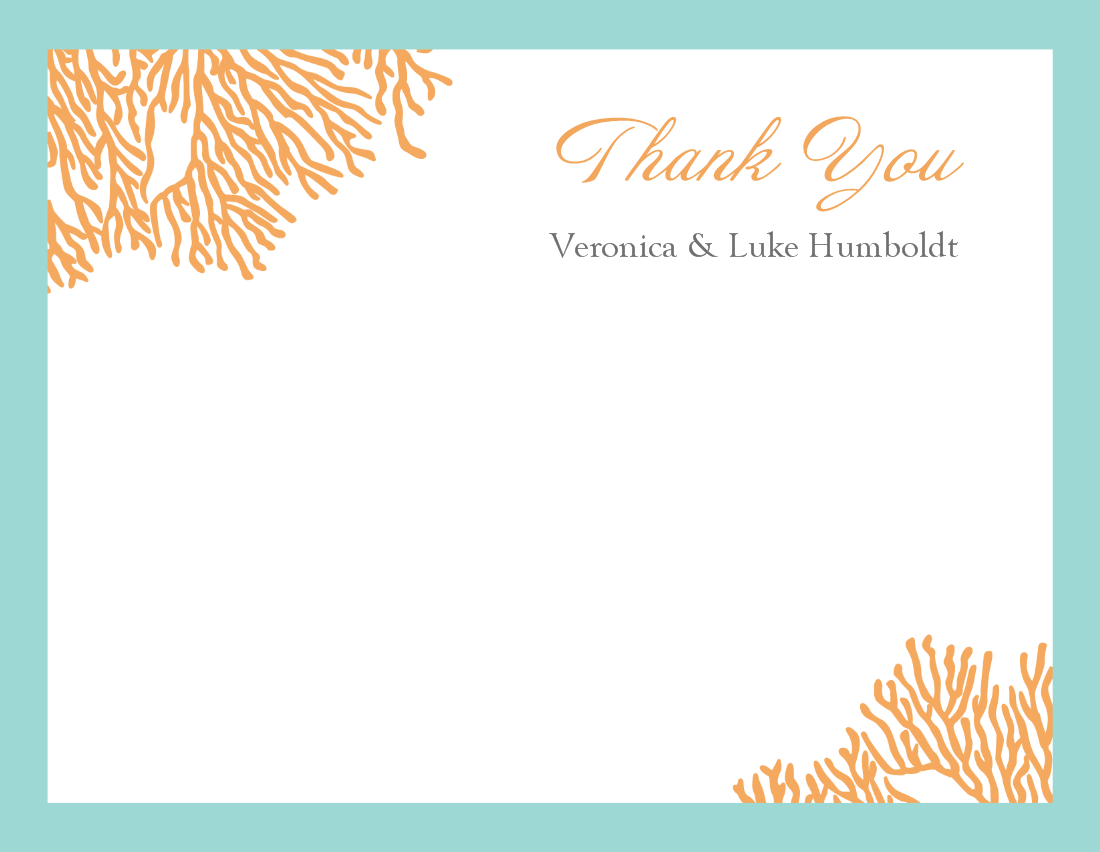 Free Thank You Card Template Word - Savvy